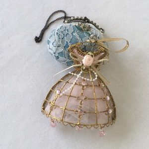 Other - TWO VICTORIAN STYLE DRESS/LACE PURSE BLUE PURSE